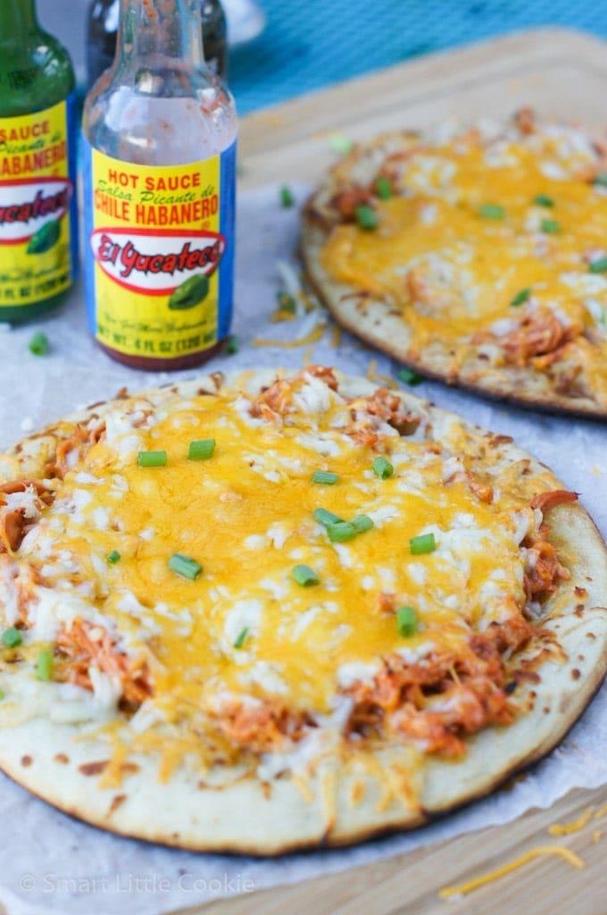 Buffalo Chicken Mini Pizza   smartlittlecookie.net