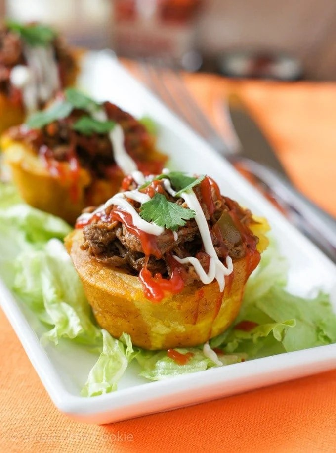 PLANTAIN RECIPES - Stuffed Plantain Cups | Smartlittlecookie.net