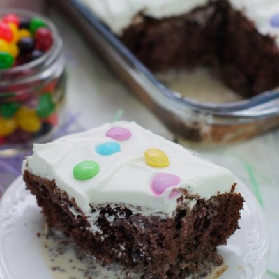 Chocolate Tres Leches Cake with M&M'S®