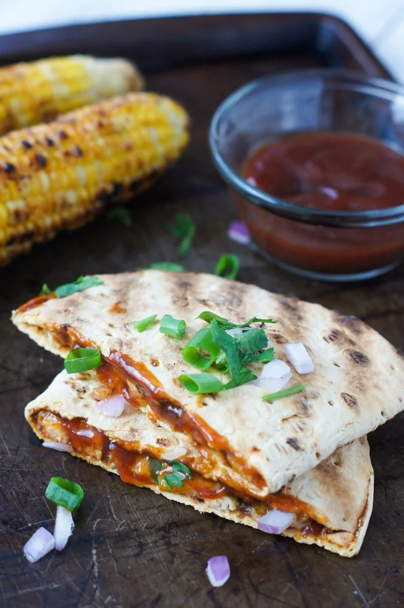 Grilled BBQ Chicken Quesadilla ~ A simple and easy lunch for those perfect backyard grilling days.