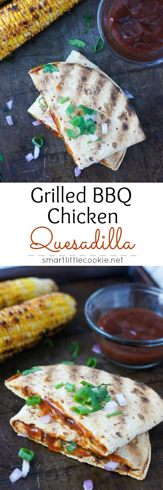 Grilled BBQ Chicken Quesadilla Pin Image