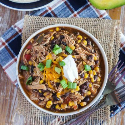 Slow Cooker Taco Chicken Chili