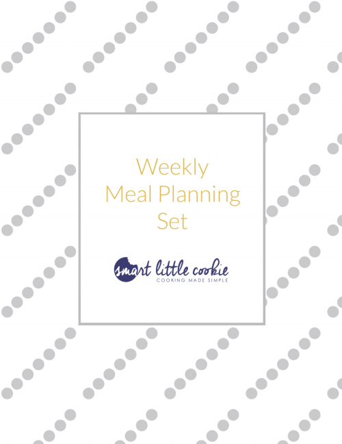 Weekly Meal Planning Set - Smart Little Cookie - Free Printable