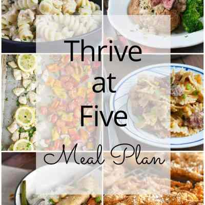 Thrive at Five Meal Plan – Week #25
