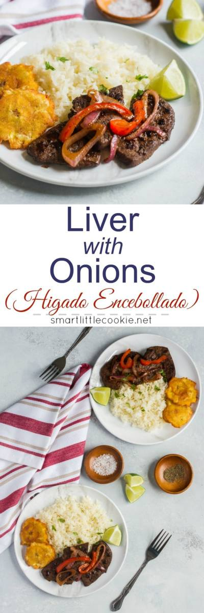 Liver with Onions (Higado Encebollado) ~ Tender and delicious, this sautee liver with onions is ready in about 10 minutes.#ad #FoodwithHeritage