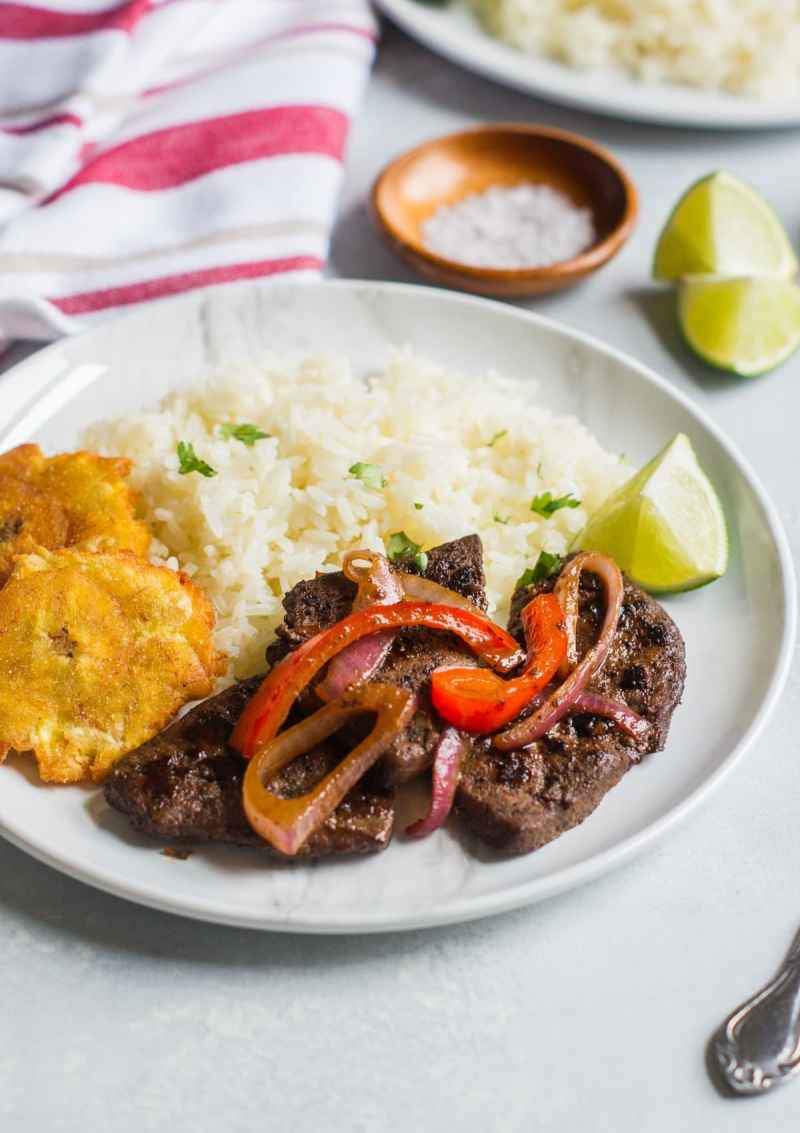 Liver with Onions (Higado Encebollado) ~ Tender and delicious, this sautee liver with onions is ready in about 10 minutes.