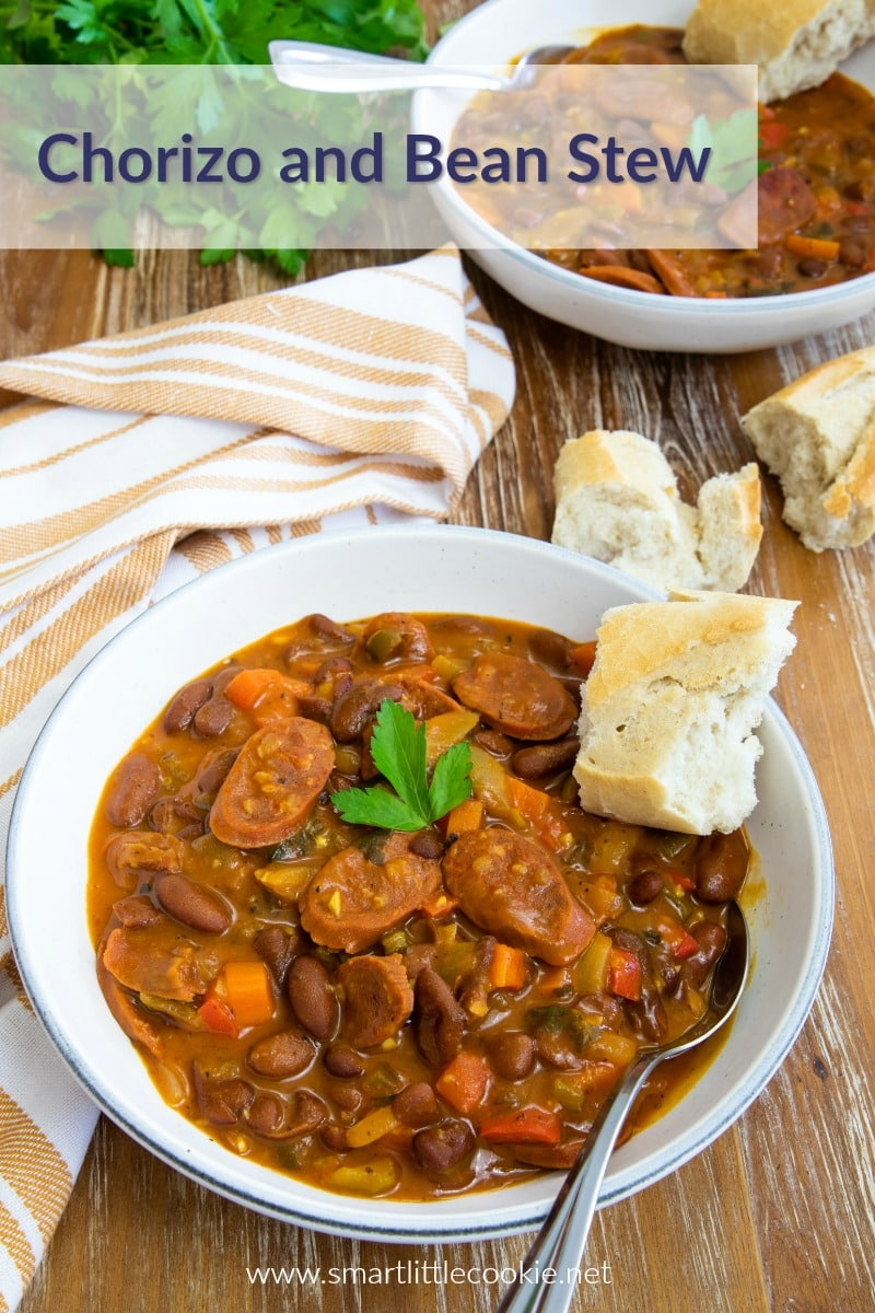 Chorizo and Beans Stew - Smart Little Cookie