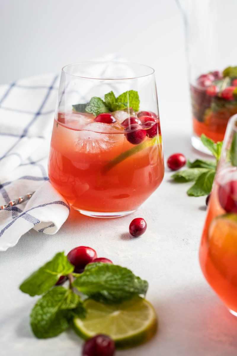 Cranberry Mojito Cocktail