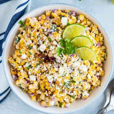 Mexican Grilled Corn Salad (Esquites)