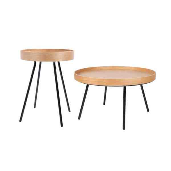zuiver oak tray side table