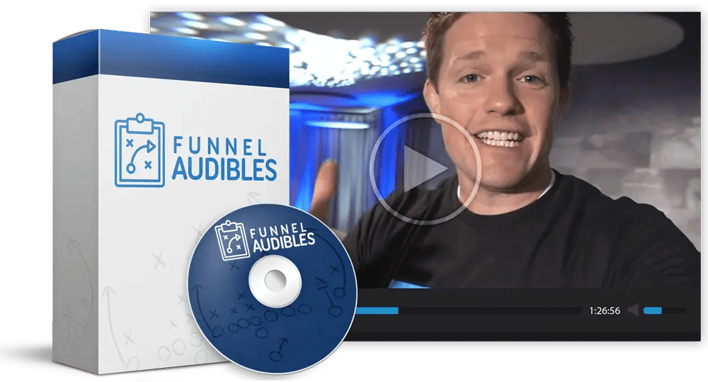 Funnel Audibles is a Funnel Hacking Live recording by Russell Brunson on how to convert a funnel that flops into a success. It is a bonus when you buy new DotCom Secrets book by Russell Brunson