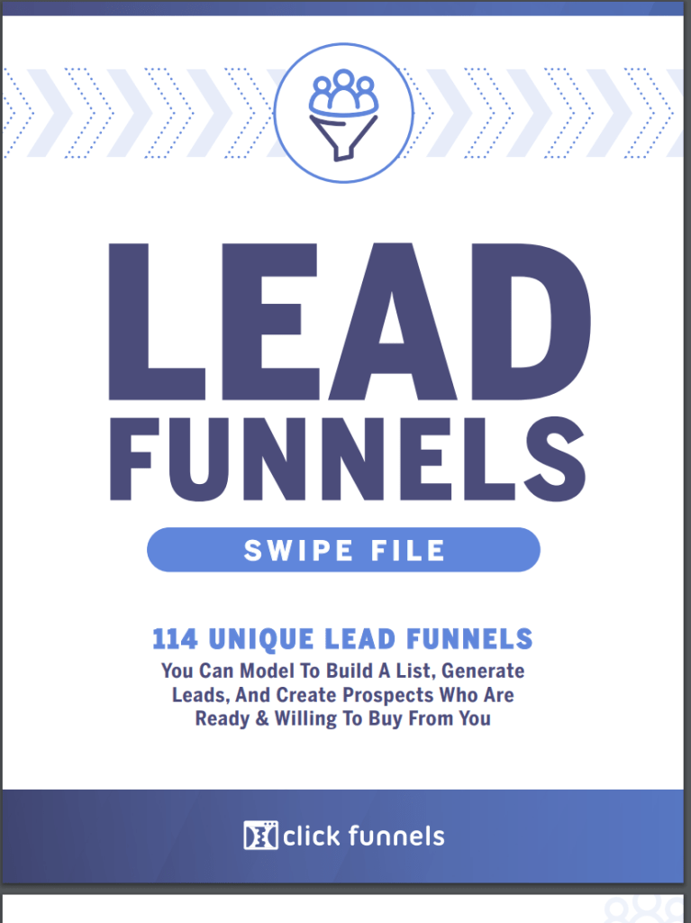 Lead Funnels Swipe File is a compilation of 114 of the highest performing lead generating funnels across all niches you can swipe and model to attract unlimited leads for your business