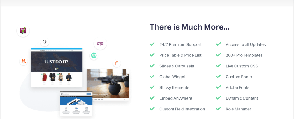 Elementor Pro WordPress Page Builder has Theme Builder to use on all themes, features for Email Marketing, Ecommerce and Lead Generation