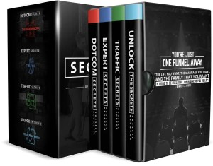 The Secrets Trilogy is a box set of hard bound copies of Russell Brunson's books DotCom Secrets, Expert Secrets and Traffic Secrets as recommended by Peng Joon. Russell Brunson is the CEO of ClickFunnels