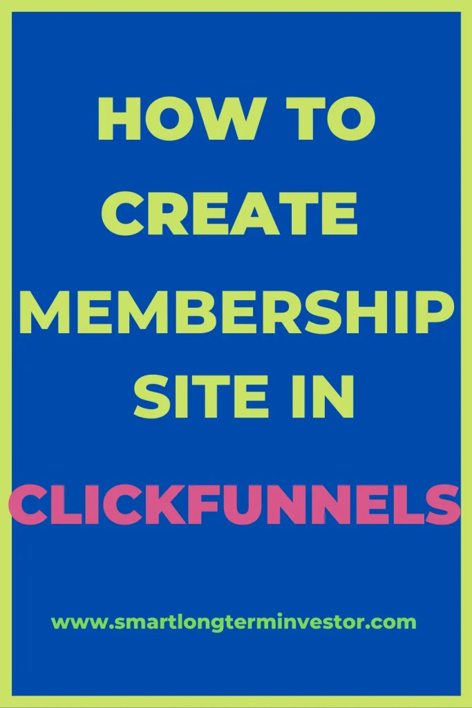 How To Create and Build Membersip Site In ClickFunnels For Hosting An Online Course