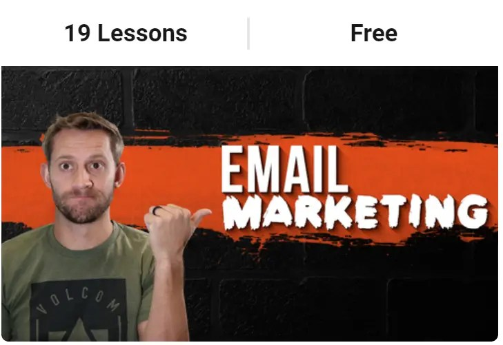 Buildapreneur free email marketing course by Spencer Mecham with tips, secrets and bonuses on how to be the best with email marketing