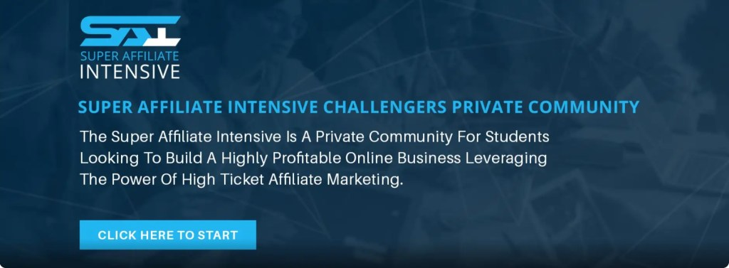 Super Affiliate Intensive Intensive Challenges is a private Facebook Group for members of Jacob Caris's Super Affiliate Intensive program