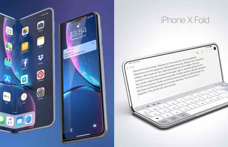 Сгъваем iPhone със самовъзстановяващ се дисплей – новият патент на Apple