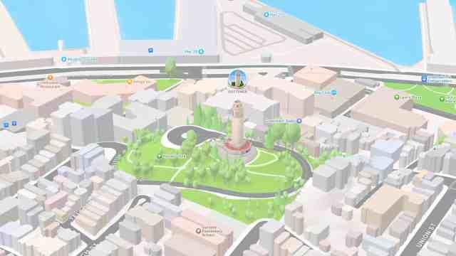 Новите 3D карти в Maps с iOS 15