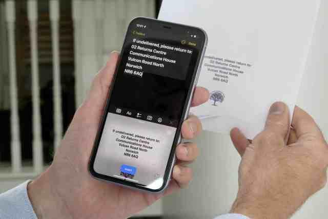 Live Text за първи път с iOS 15