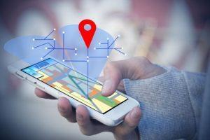 ruční telefon s GPS nebo lokátorem