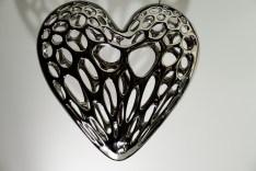Coeur léger imprimé 3d SLA - Fanny B. - Nickel brillant