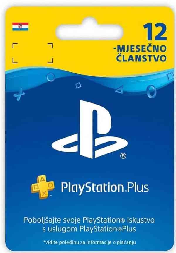 PLAYSTATION PLUS CARD Digitalni Bon za 12 mjeseci