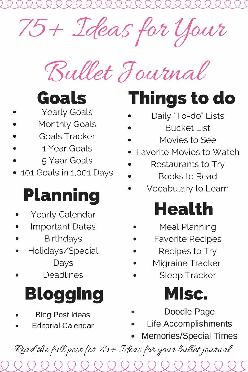75 Bullet Journal Ideas Best Of Smart Mom Smart Ideas