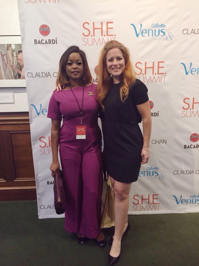 Arese Ugwu and Ingrid Vanderveldt (founder and chairman, Empowering a billion women by 2020)