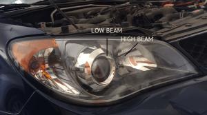 Subaru Impreza 2006 headlights