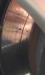 Scratched Subaru Impreza 2006 rotors