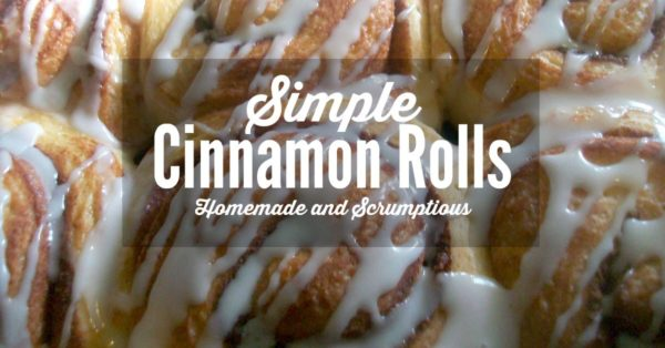 frugal living tips - simple cinnamon rolls