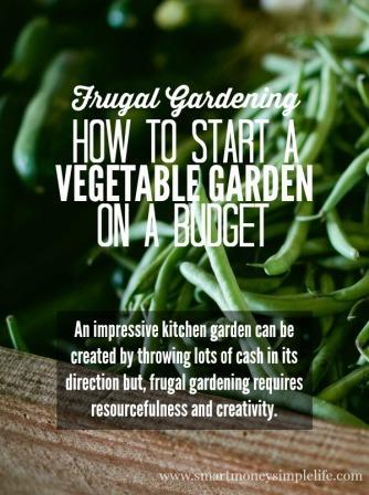 frugal gardening vegetables