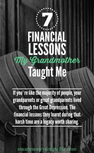 Frugal living tips from my grandmother - smart money simple life