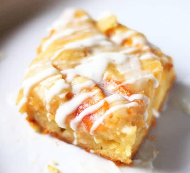 peach dessert - cobbler bars