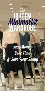 minimalist 10 item wardrobe