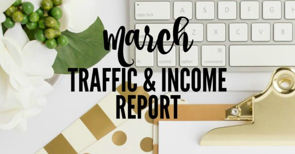 blog income and traffic report March