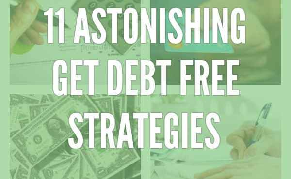 Get DEBT FREE Strategies | Getting out of debt is a goal worth striving for. Less stress. More control over your life. Try this one trick first...