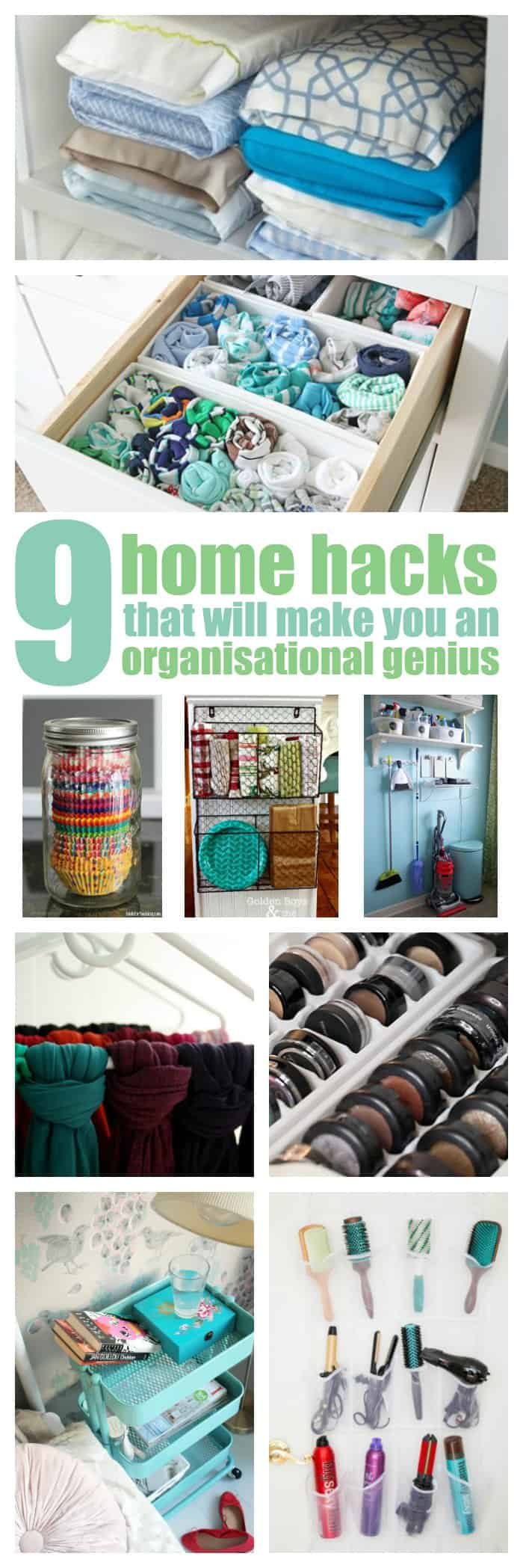 9 home hacks that will make you an organisation genius for Household hacks