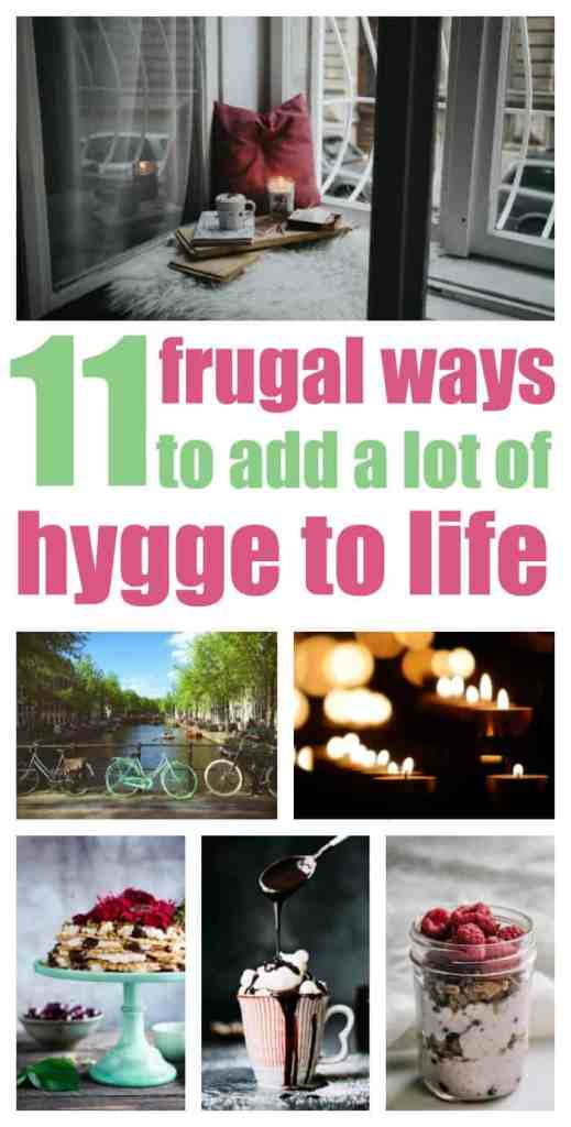 11 frugal ways t add a lot of hygge to life.