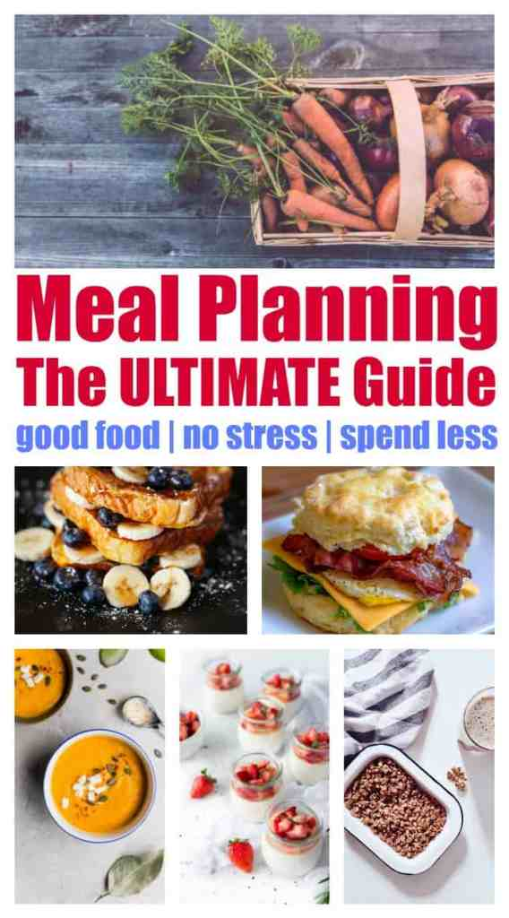 Meal planning: save time, money and, stress. Waste less food (money), make your life much easier, and, spend less on groceries.