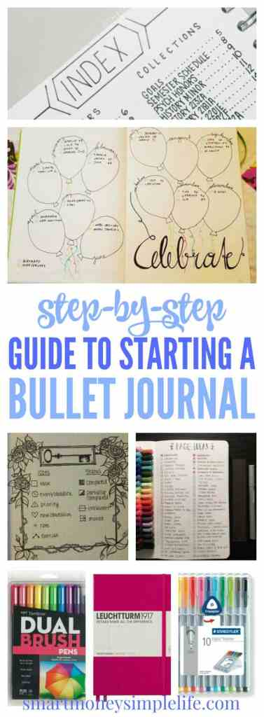 Step-by-step guide to starting a bullet journal. Quick and simple instructions so you can start your bullet journal today. #BulletJournal