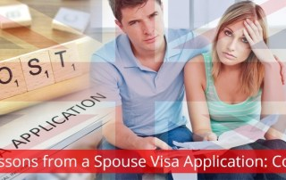 Lessons from a spouse visa application: Cost