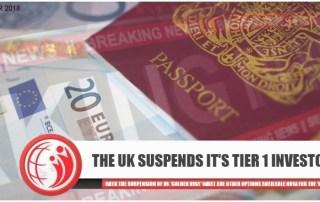 UK Golden Visa suspended