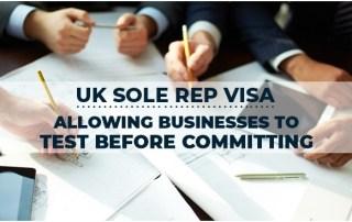 UK Visa for Sole Representative