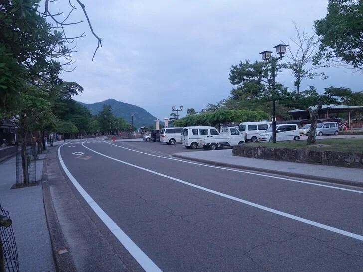 早朝の宮島の写真