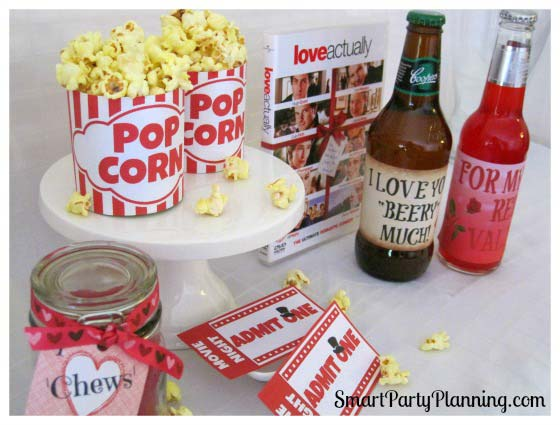How To Plan A Romantic Movie Night With Free Printables