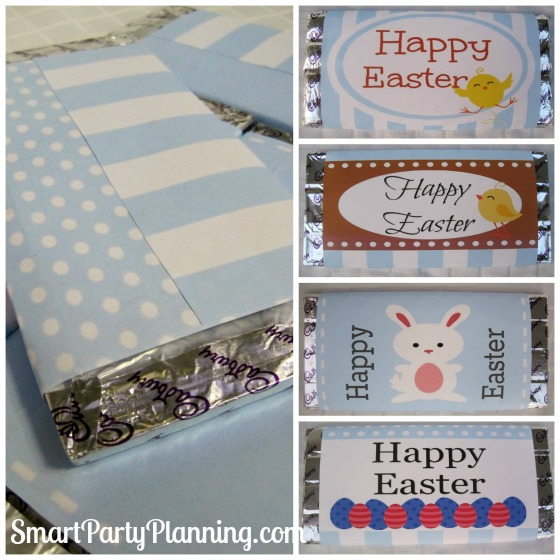 Easter Printables as Chocolate wrappers