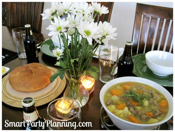 St Patrick's Day Dinner Party