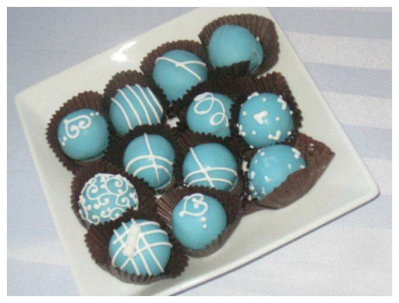 Tiffany Themed Party Chocolates